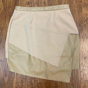 Tobi faux leather asymmetrical zipper mini skirt S